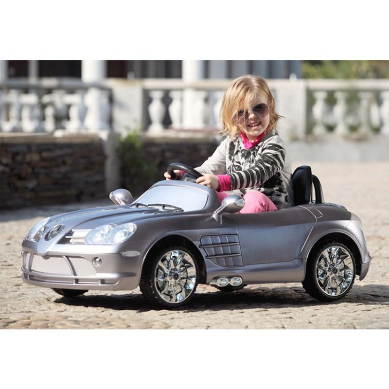mercedes benz slr mclaren r199 12v licensed kids ride on toy car silver mercedes benz slr silver
